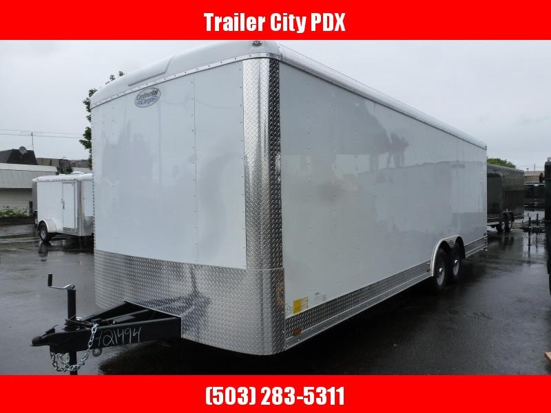 2020 Continental Cargo 8 X 24 10K CAR HAULER WHITE Enclosed Cargo Trailer