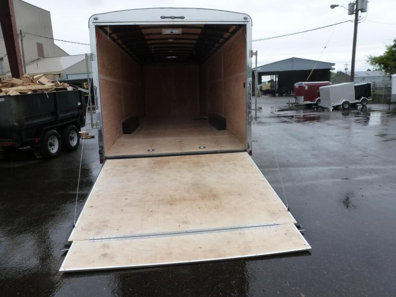 2020 Continental Cargo 8 X 24 10K CAR HAULER WHITE Enclosed Cargo Trailer