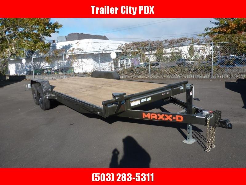 """2021 MAXXD 7 X 20 10K. C5X - 5"""" Channel Car Hauler Flatbed Trailer"""