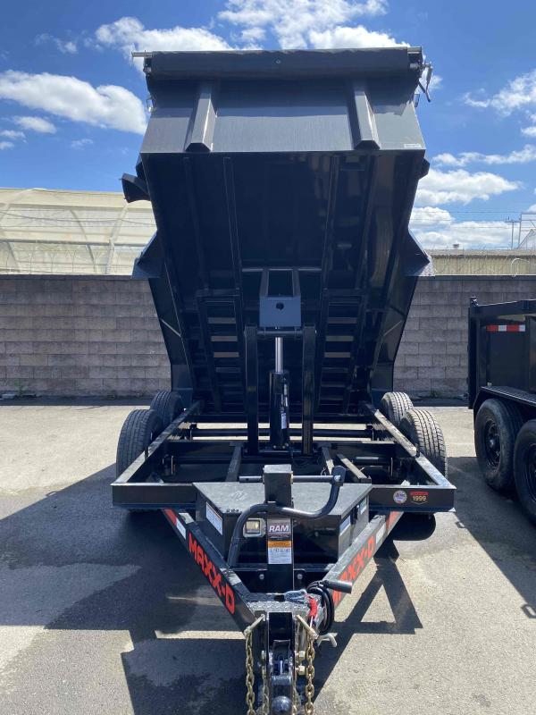 MAXXD D6X 6X12 12K 3FT SIDES Scissor Lift Dump Trailer Dump Trailer