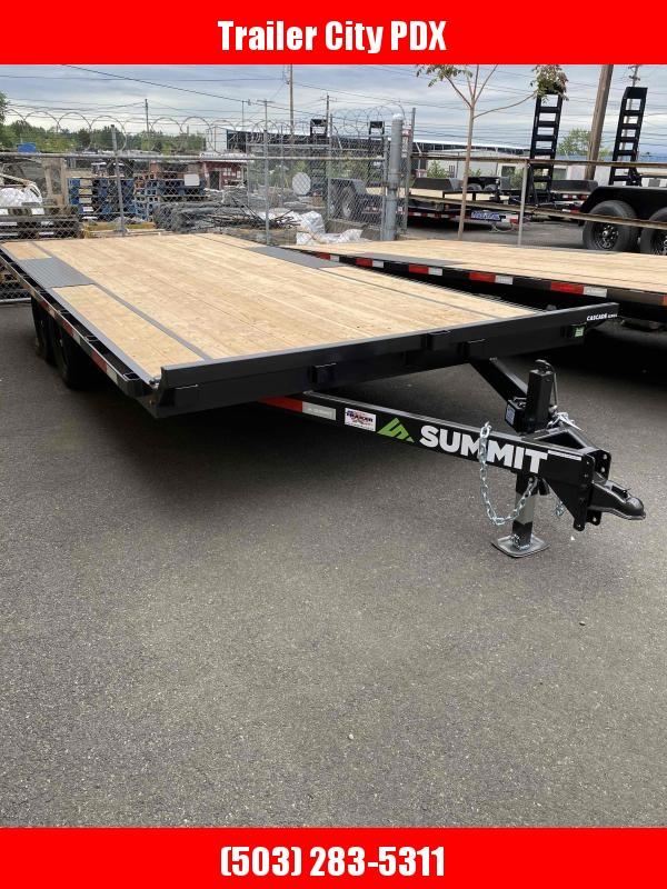 Summit 8.5 X 18 10K DECKOVER Flatbed Trailer
