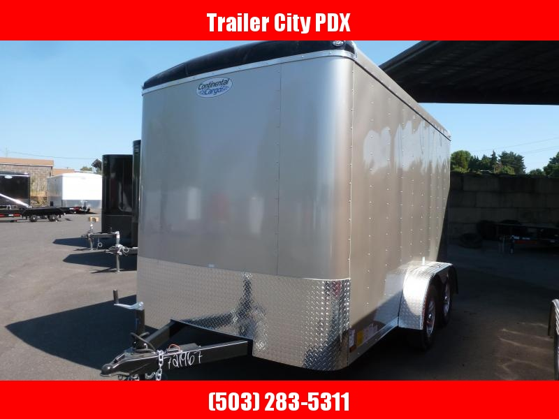 2020 Continental Cargo 7 X 12 3K RAMP TALL CHAMPAGNE BEIGE Enclosed Cargo Trailer