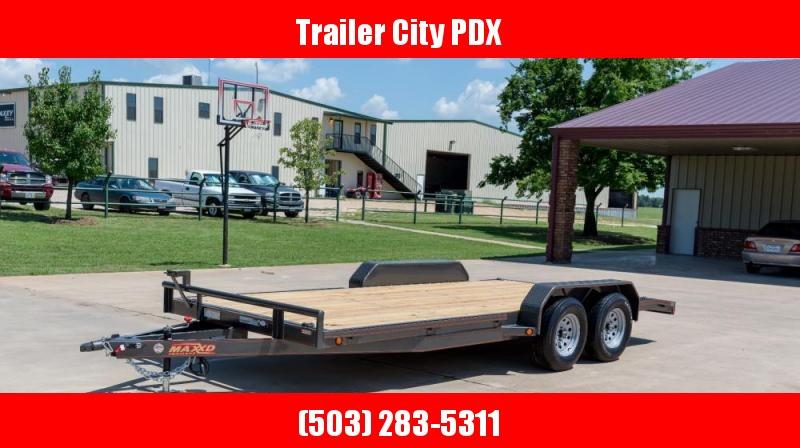 """2021 MAXXD 7 X 18 10K- C5X - 5"""" Channel Car Hauler Flatbed Trailer"""