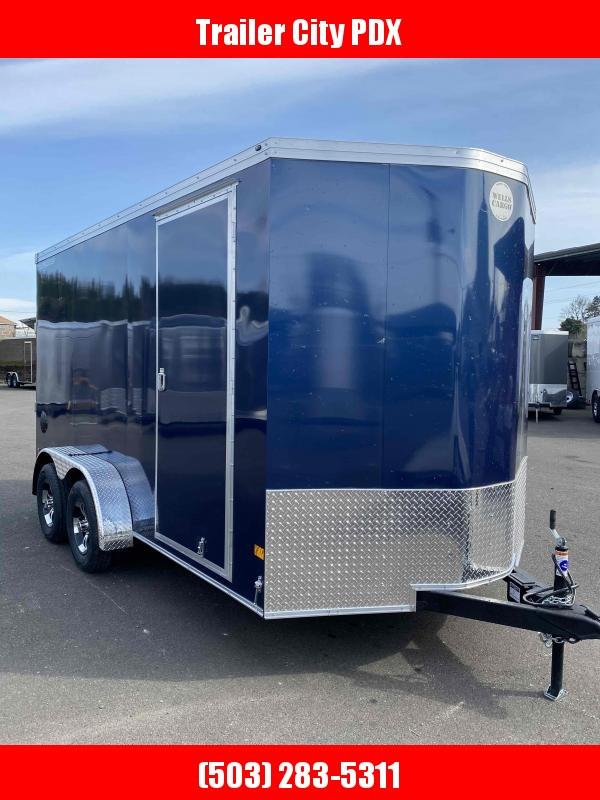 2021 Wells Cargo RFV 7X14 7K RAMP INDIGO BLUE Enclosed Cargo Trailer