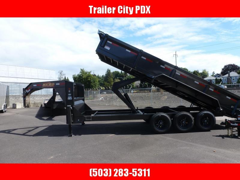 "2020 MAXXD DHX - 83"" X 20 21K GOOSENECK HD Dump Trailer Dump Trailer"