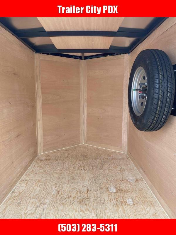 2021 Continental Cargo 4 X 6 WHITE V-SERIES ENCLOSED TRAILER Enclosed Cargo Trailer