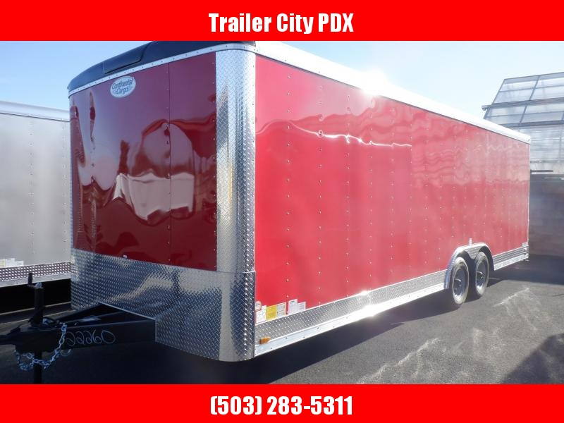 2020 Continental Cargo 8.5 X 24 10K CAR HAULER TALL RAMP RED Enclosed Cargo Trailer
