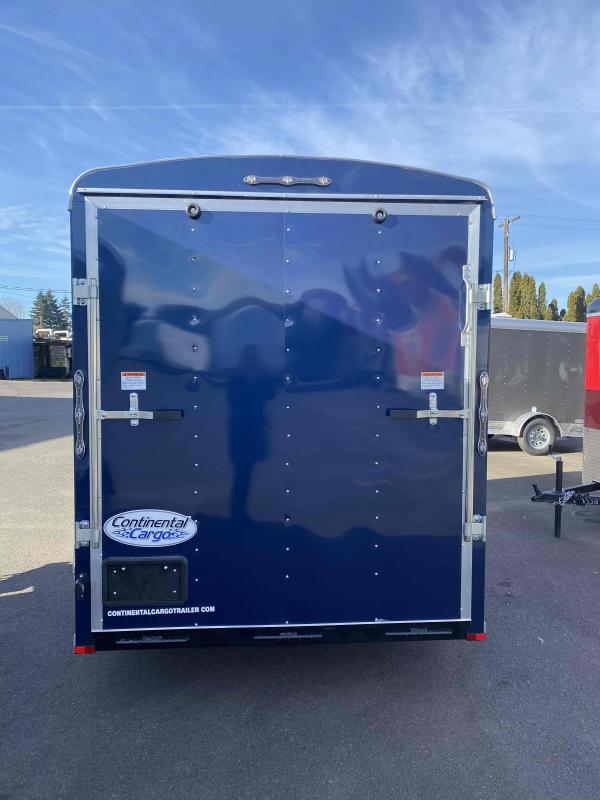 2021 Continental Cargo 6X12 3K INDIGO BLUE RAMP TALL Enclosed Cargo Trailer