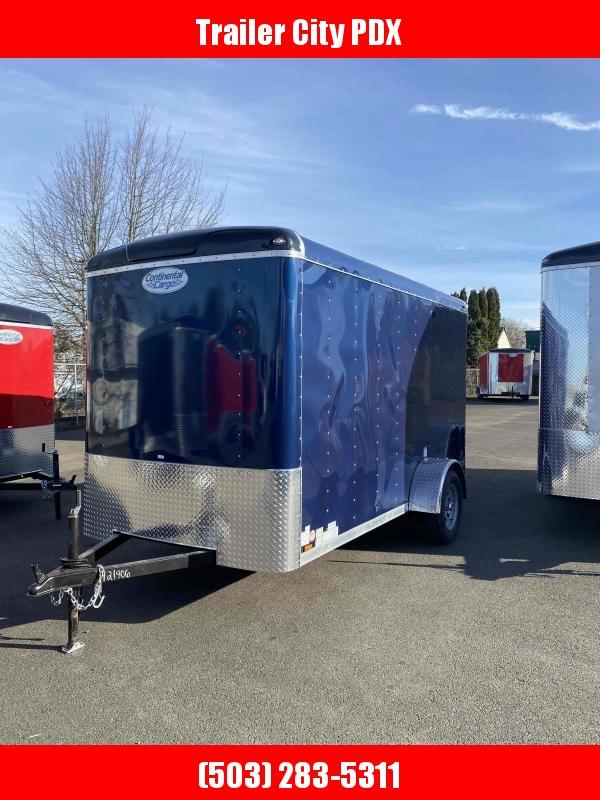2021 Continental Cargo 6X12 3K INDIGO BLUE RAMP TALL Enclosed Cargo Trailer