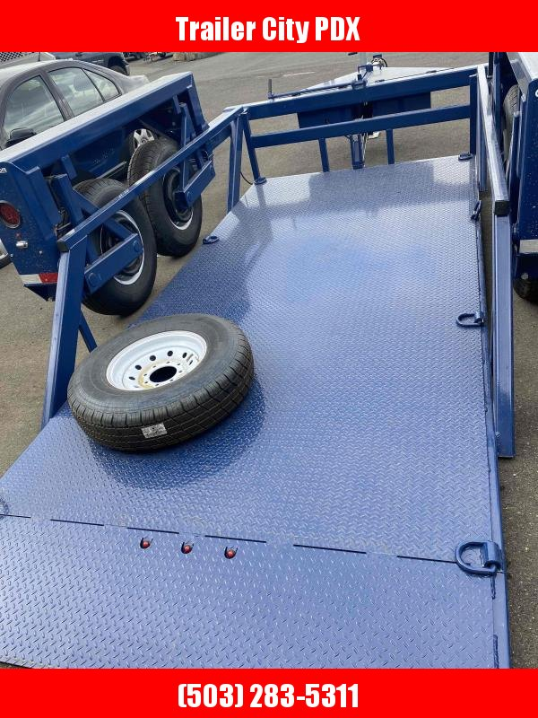 Air Tow GROUND LOADING  Tandem Axle Flatbed Flatbed Trailer