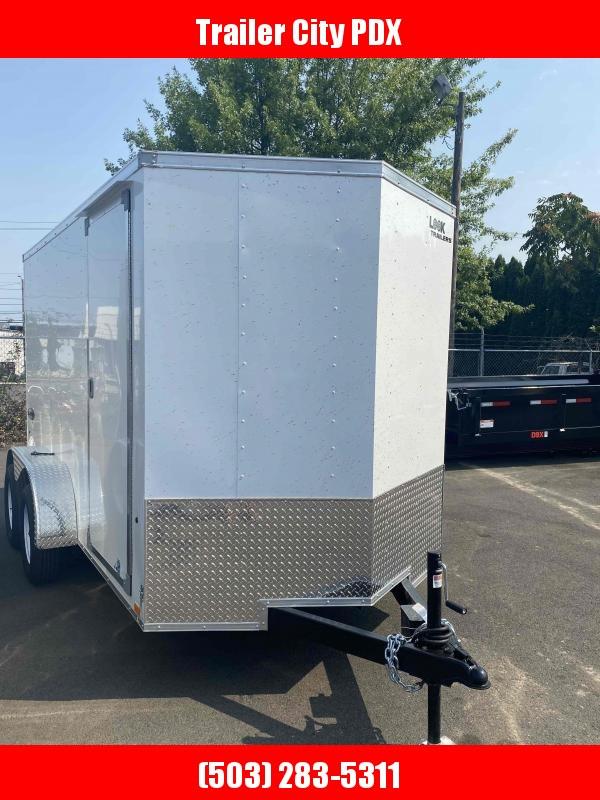 6 X 12 7K RAMP WHITE ENCLOSED Enclosed Cargo Trailer