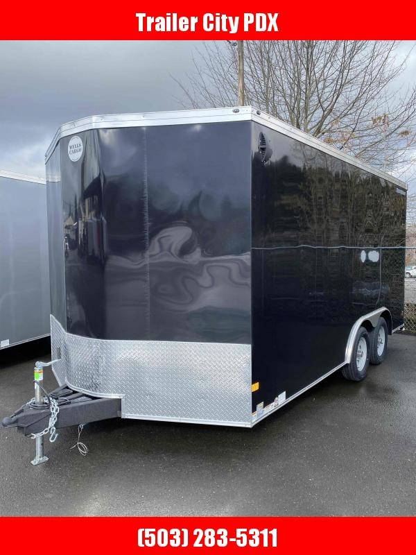 2021 Wells Cargo 8.5x16 7k Road Force Black Enclosed Cargo Trailer