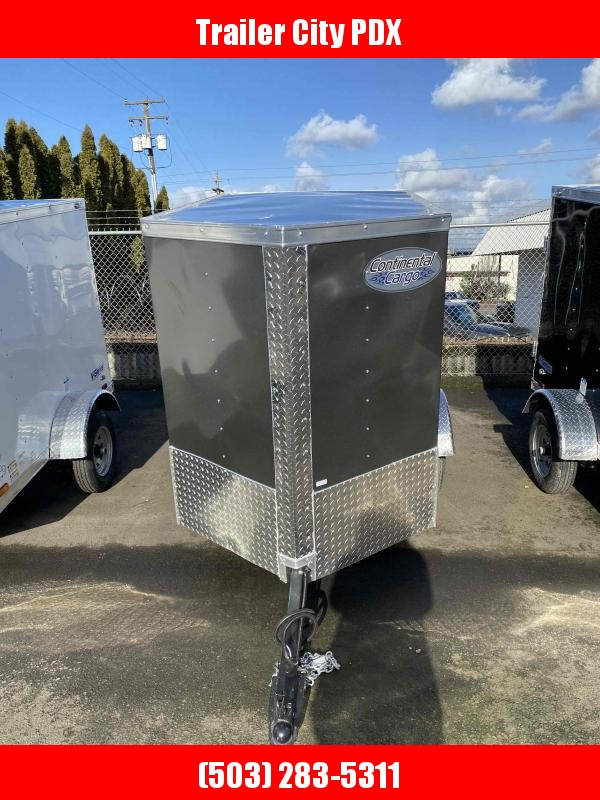 2021 Continental Cargo 4 X 6 V-SERICES CHARCOAL Enclosed Cargo Trailer
