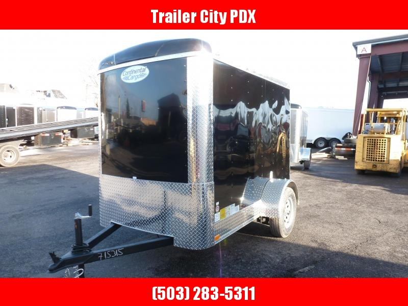 2021 Continental Cargo 5 X 8 3K RAMP BLACK Enclosed Cargo Trailer