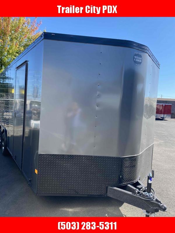 Wells Cargo 85 X 20 10K RAMP PHANTOM PACKAGE  Enclosed Cargo Trailer