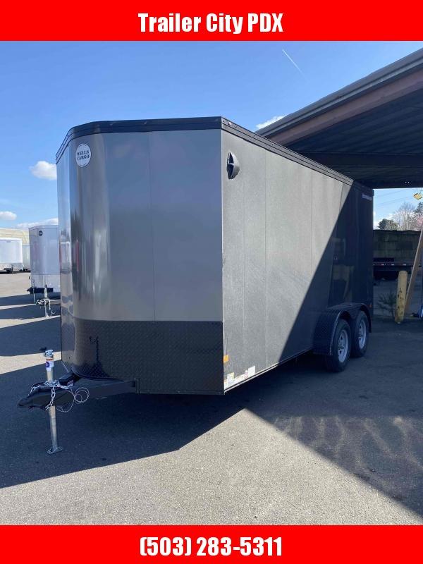 2021 Wells Cargo RFV 7X16 7K RAMP PHANTOM TWO TONED Enclosed Cargo Trailer