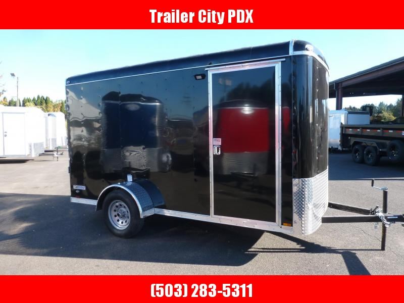 2021 Continental Cargo 6 X 12 3K RAMP BLACK Enclosed Cargo Trailer