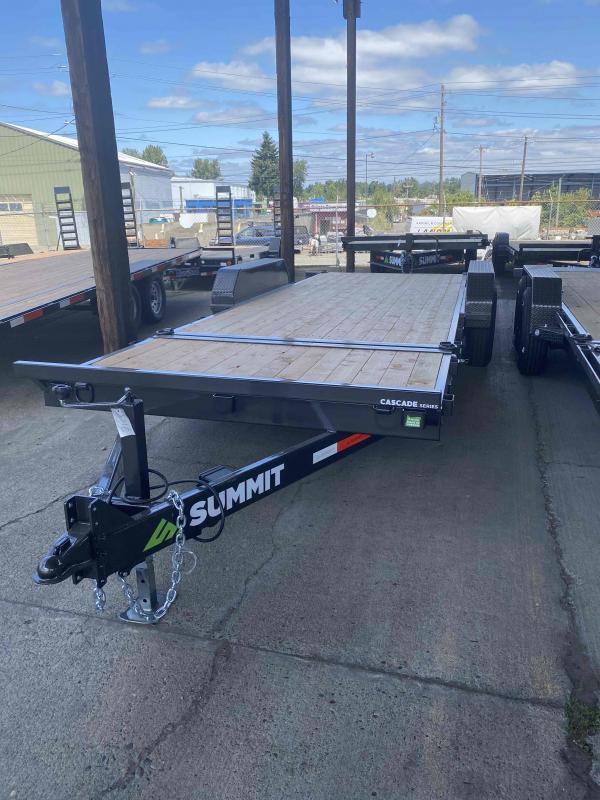 Summit 7 X 20 14K SPLIT TILT Equipment Trailer