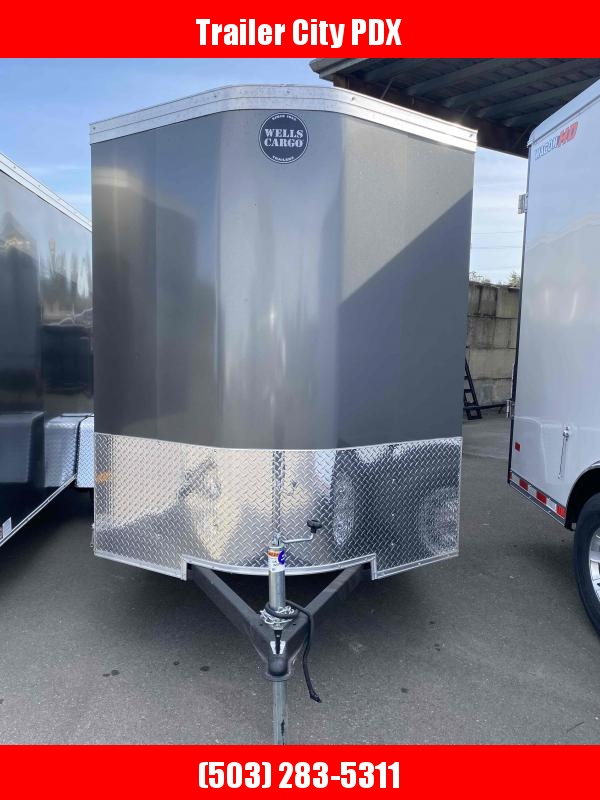 2021 Wells Cargo 6 X12 3K RAMP GRAY ROAD FORCE Enclosed Cargo Trailer