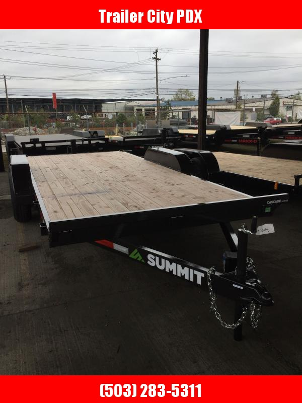 "2021 Summit Cascade 5"" 7X16 Flatbed 10K Utility Trailer"