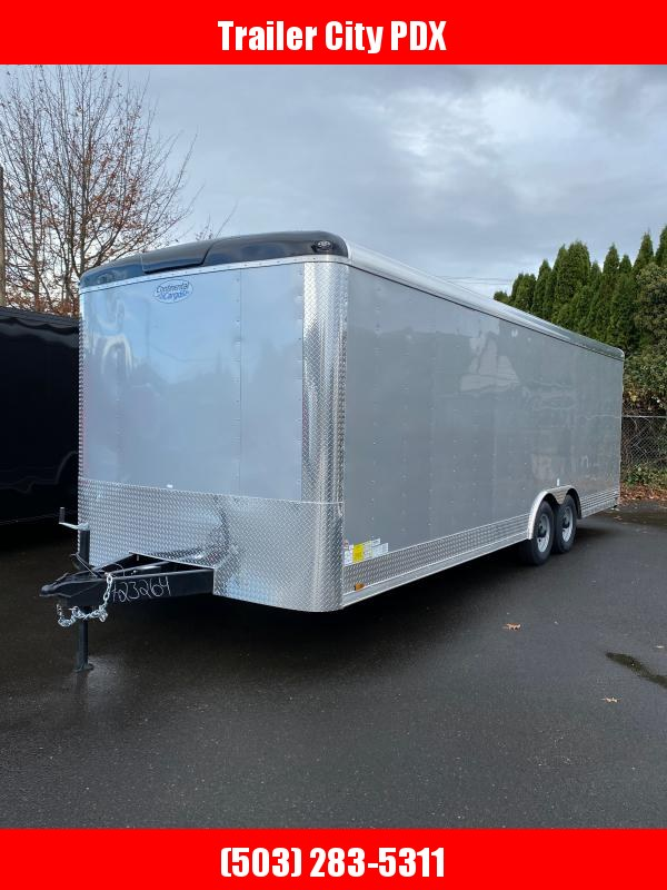 2021 Continental Cargo 8 X 24 10K RAMP TALL DIAMOND ICE CAR HAULER PACKA Enclosed Cargo Trailer