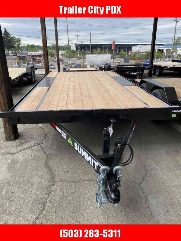 Summit 8.5 X 16 10 K DECKOVER Flatbed Trailer