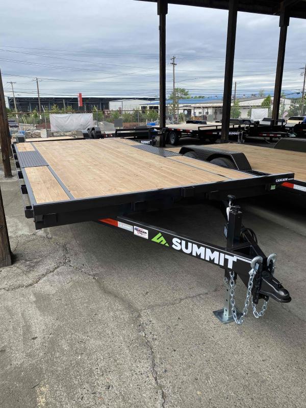 Summit 8.5 X 16 10 K DECKOVER Flatbed Trailer