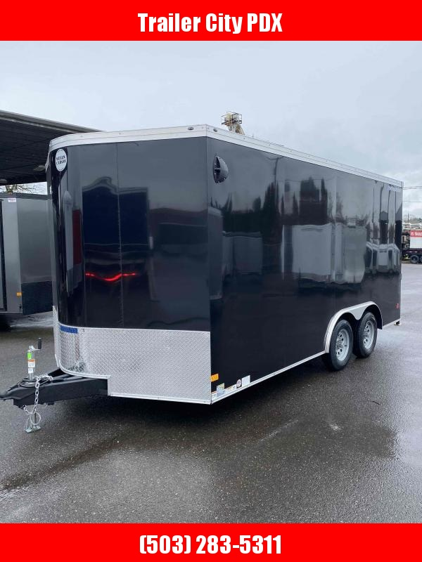 2021 Wells Cargo 8.5x16 7k ROAD FORCE RAMP BLACK Enclosed Cargo Trailer