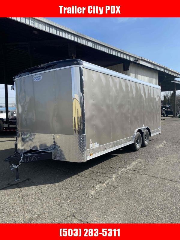 Continental Cargo 8 X 20 10K RAMP PEWTER Enclosed Cargo Trailer