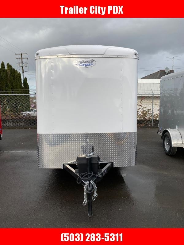 2021 Continental Cargo 6 X 12 3K TALL CARGO WHITE Enclosed Cargo Trailer