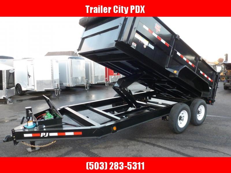 "PJ Trailers DMA 83""x14' 14K Dump  Trailer"