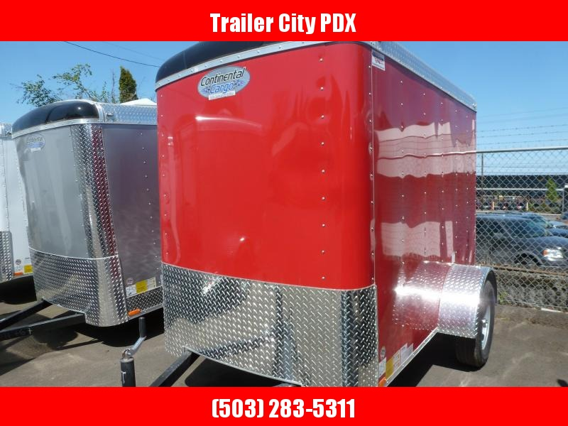 2021 Continental Cargo 5X8 3K RED RAMP TAILWIND Enclosed Cargo Trailer