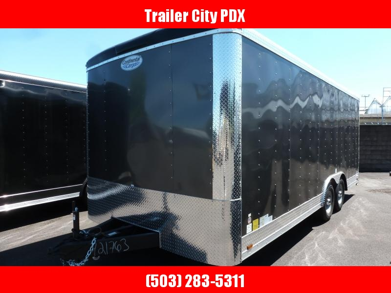 2020 Continental Cargo 8 X 20 10K RAMP TALL CHARCOAL Enclosed Cargo Trailer