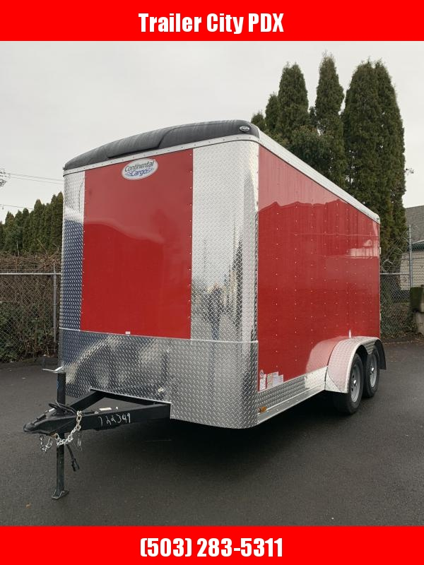 2021 Continental Cargo TW 7X14 7K Ramp Enclosed Trailer RED