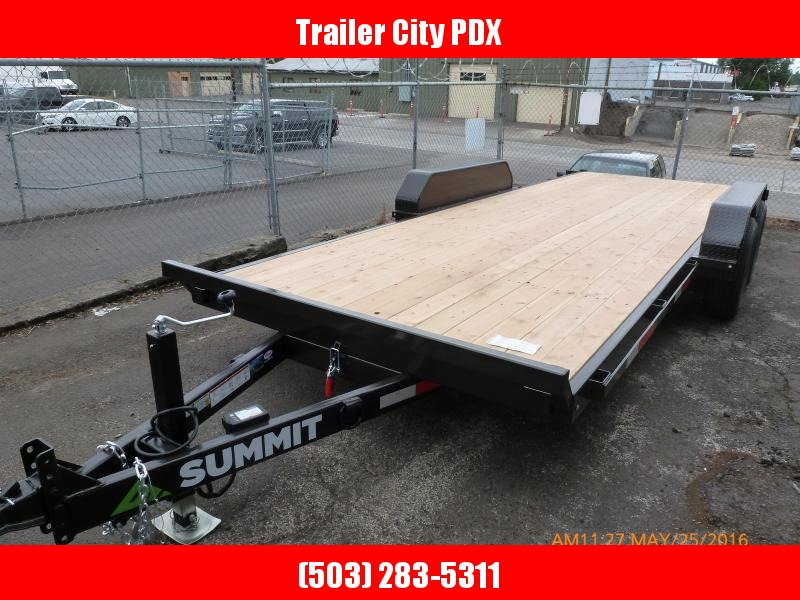 2020 Summit Denali Pro 7 x 20 10kTilt Flatbed Trailer