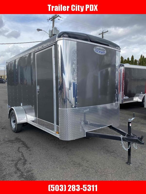 2021 Continental Cargo 6 x 12 3k CARGO DOORS TALL CHARCOAL Enclosed Cargo Trailer