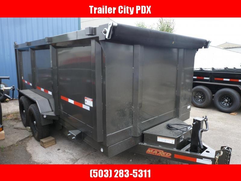 2020 MAXXD D8X - 7 X 14 14K Heavy Duty Dump Trailer 4'SIDES Dump Trailer