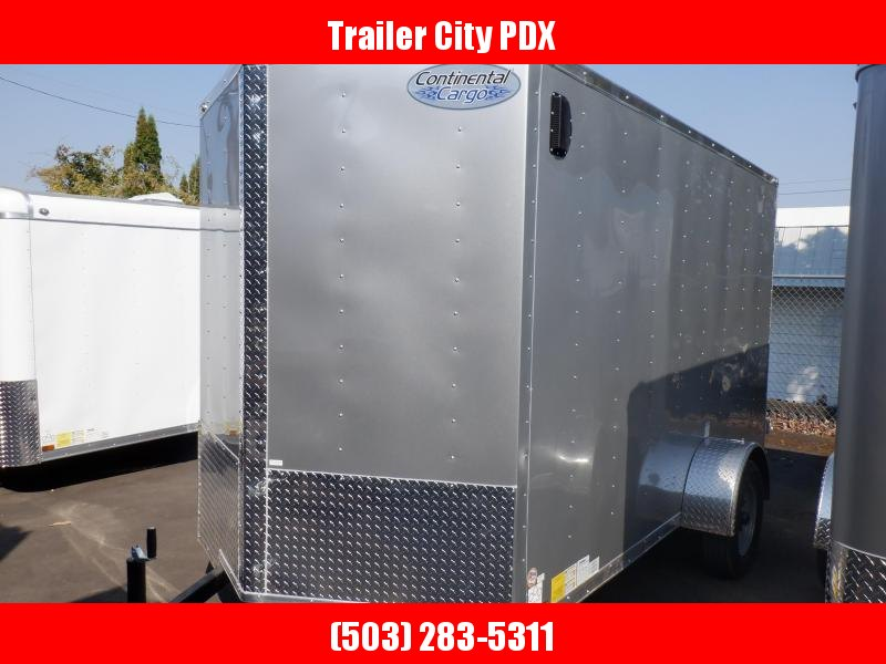 2020 Continental Cargo 6 X 10 3K V- SERIES PEWTER CARGO DOORS Enclosed Cargo Trailer