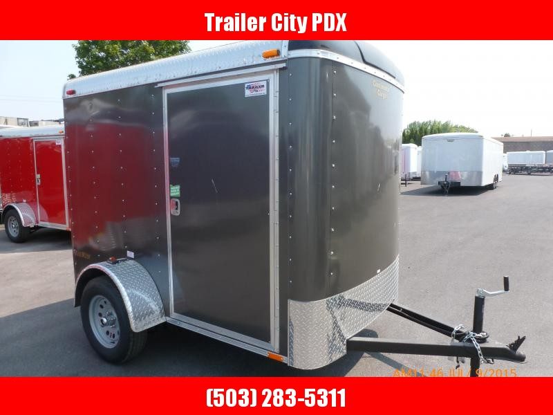 2021 Continental Cargo 5X8 3K CHARCOAL RAMP SUPER TALL Enclosed Cargo Trailer