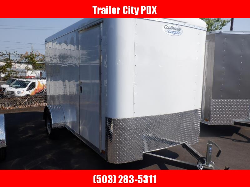 2020 Continental Cargo 6 X 12 3K RAMP WHITE Enclosed Cargo Trailer