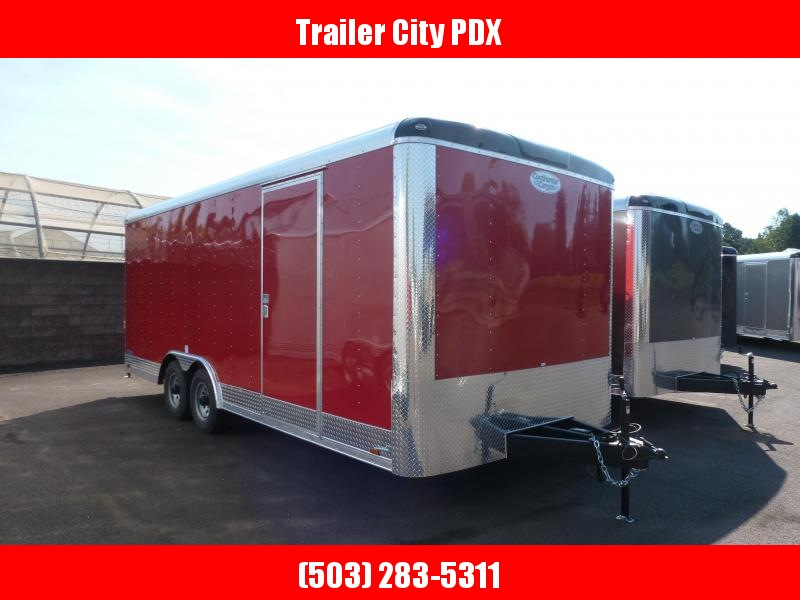 2020 Continental Cargo 8.5 X 20 10K RAMP CAR HAULER RED Enclosed Cargo Trailer