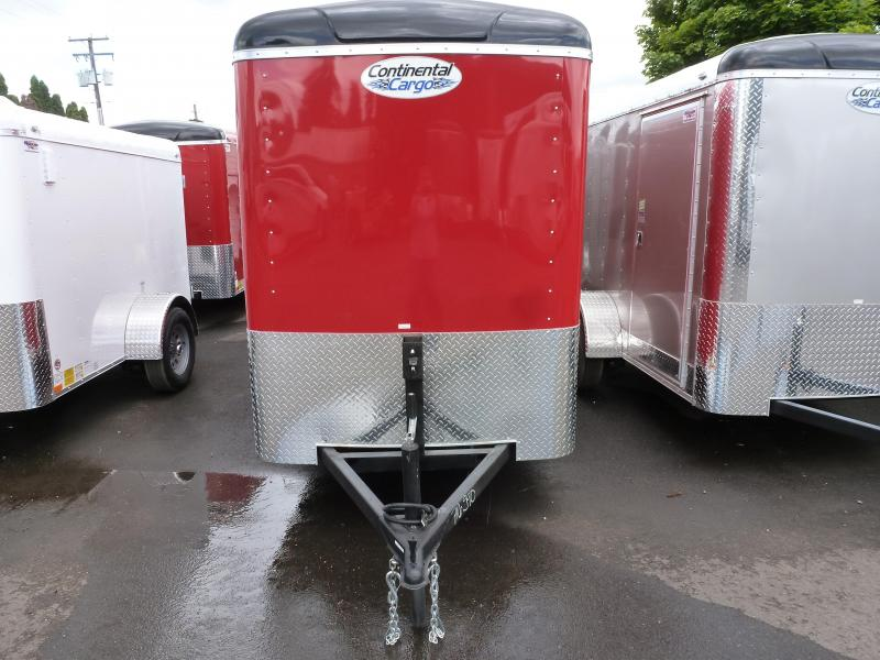 2021 Continental Cargo 5 X 10 3K SUPER TALL RED RAMP Enclosed Cargo Trailer
