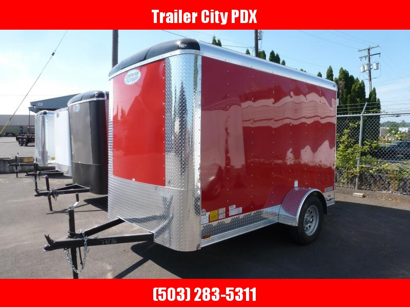 2020 Continental Cargo 6 X 10 3K RED TALL CARGO DOORS Enclosed Cargo Trailer