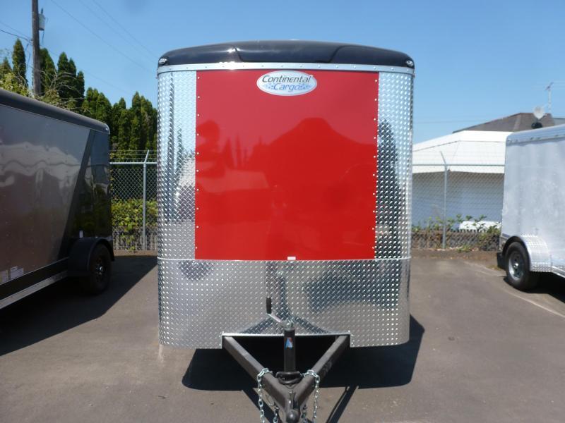 2020 Continental Cargo 6 X 10 3K RED TALL CARGO DOORS Enclosed Cargo Trailer