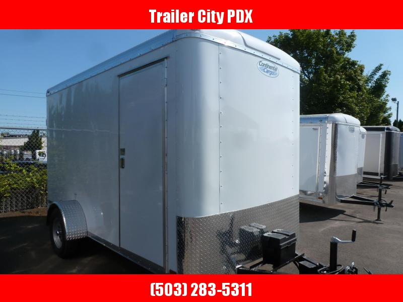 2020 Continental Cargo 6 X 12 3K SUPER TALL WHITE CUSTOM Enclosed Cargo Trailer