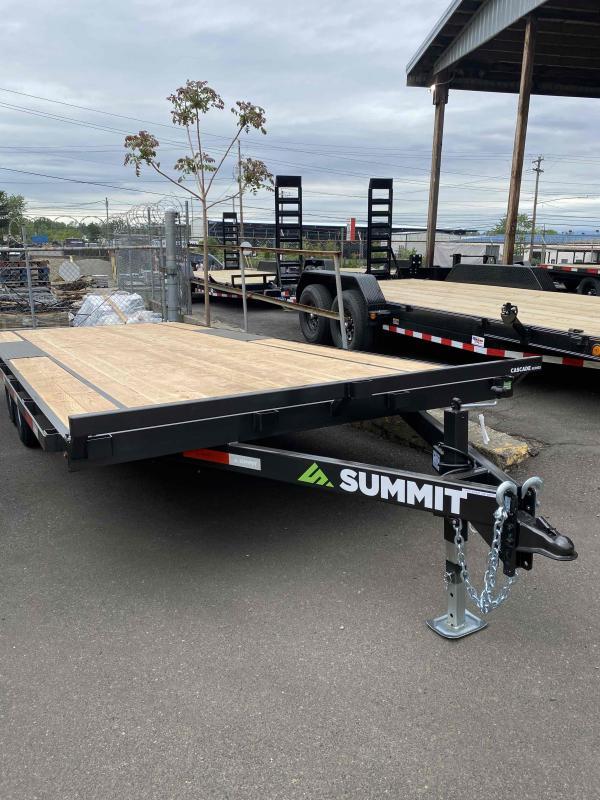 Summit 8.5 X 20 DECKOVER 10K CASCADE Flatbed Trailer
