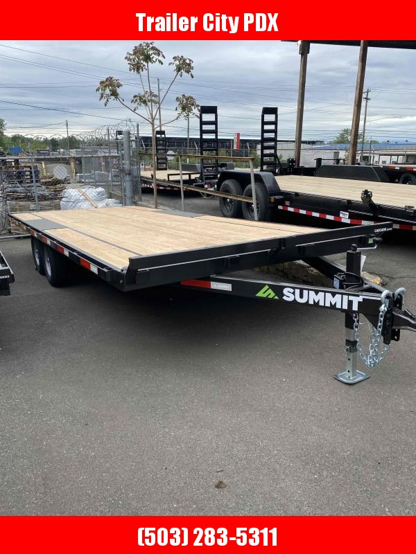 Summit 8.5 X 20 DECKOVER 10K CASCADE Flatbed Trailer