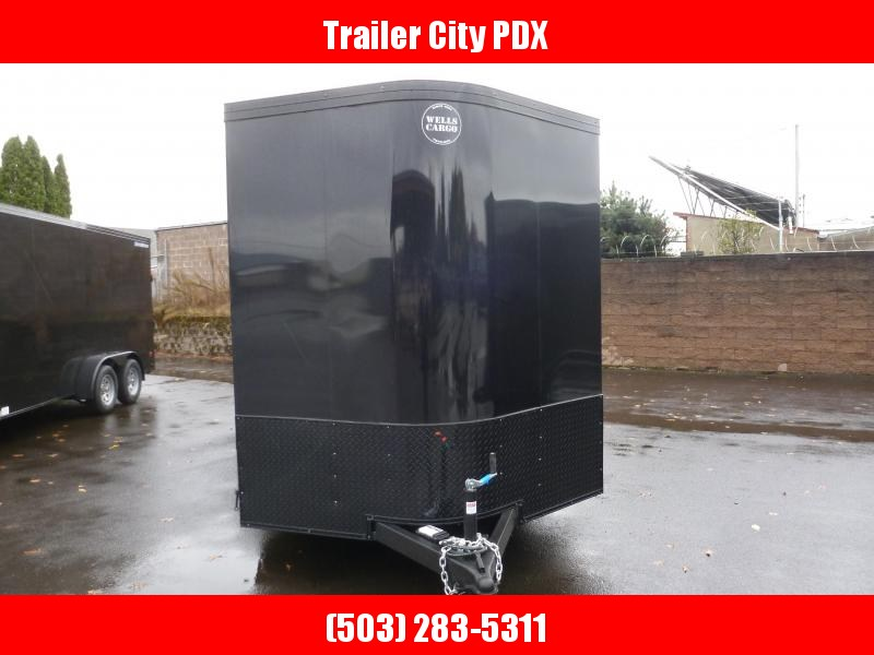 2021 Wells Cargo 7X16 7K ROAD FORCE V RAMP PHANTOM BLACK Enclosed Cargo Trailer
