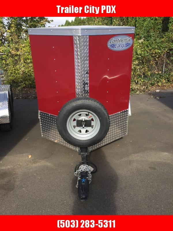 2021 Continental Cargo 4 X 6 V SERIES ENCLOSED BRANDY Enclosed Cargo Trailer