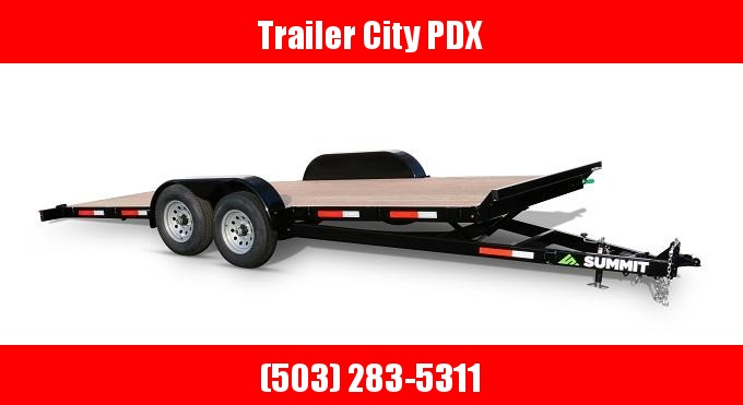 2021 Summit 7 X 20 10K TILT FLATBED CASCADE SUMMIT Flatbed Trailer